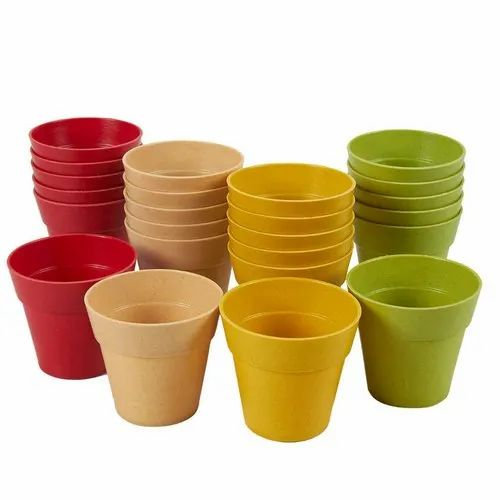 Round 8 Inch Plastic Flower Pot For