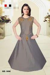 Grey Chiffon Ladies Gown