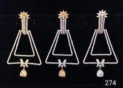 American Diamond Long Earring For Women