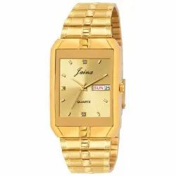 Golden Day & Date Function Men Premium Wrist Watches