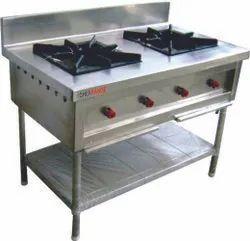 NARU 2 Nos Two Burner Cooking Range, For Restaurant