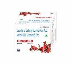 Carbonyl Iron, Folic Acid, Vitamin B12, Selenium & Zinc Capsules