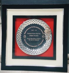 Silver Plated Round Memento with Frame