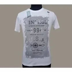 Cotton Men Casual Printed T Shirt