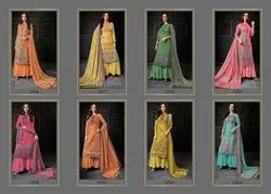 euphoria creation Georgette Ladies Plazo Suit, For Casual Wear