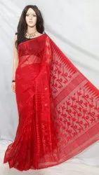 Cotton Silk Soft Dhakai Jamdani Handloom Saree