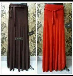 adiva imported lycra Long Skirt, Size: free, xxl