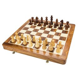 Wooden Magnetic Chess Set 14 inches