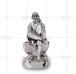 Silver Plated Sai Baba Idol
