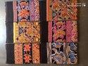 Cotton Printed Bed Sheet , Khadi, Red Rose, Black Berry
