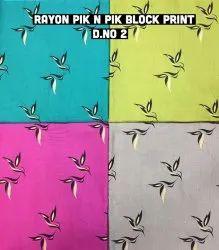 Rayon Pik N Pik Block Print