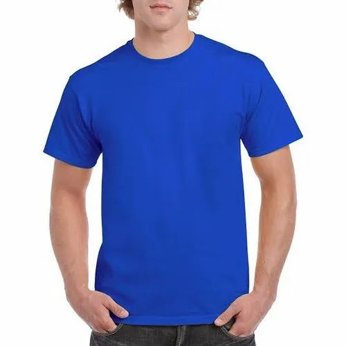 Blue Large Fealty New Branded Cotton Casual T Shirts For Men
