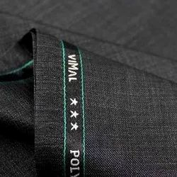 Black Polyester Vimal Suiting Fabric