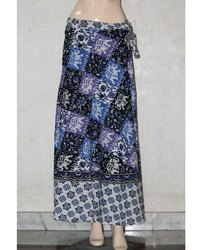 Cotton Jaipuri Print Wrap Around Skirt, Size: Free, upto XXL