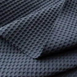 100% Cotton Waffle Weave Fabric Honeycomb Blankets Fabric Natural or Dyed Cotton Waflle Fabrics