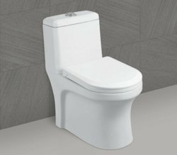 White Floor Mounted Ceramic Water Closets