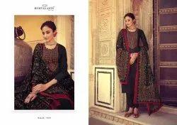 Black Straight Mumtaz Arts embroidered suit