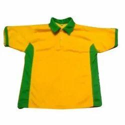 Half Sleeves Nylon Kids Plain Sports T Shirt
