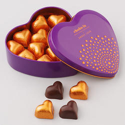 Sweet Love Heart Shaped Dark Chocolate Gift 110 Grams
