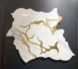Indoor Vertical Marble Inlay Floor Art