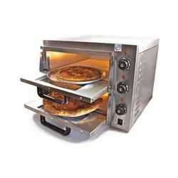 Single Phase Stainless Steel Stone Pizza Oven Two Deck, For Breads, 2 Decks