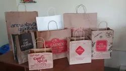 Brown, White & Printed Stocklot Of Paper Bags