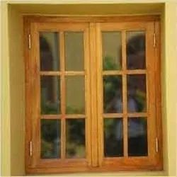 Brown Wooden Modern Window
