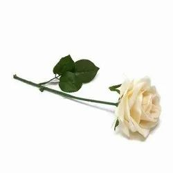 Polyethylene Plastic Artificial White Rose Stick, Packaging Size: 1 Piece