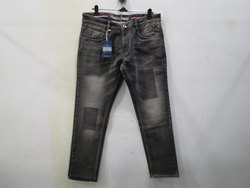 Mens Grey Straight Fit Stretch Jeans(PW - 06A)
