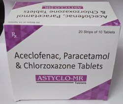 Acelofenac, Paracetamol & Chlorzoxazone Tablets