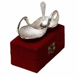 Silver Plated Double Duck Bowl with Spoon