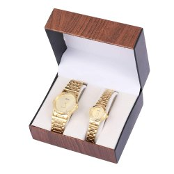 Artshai Golden Dial Couple Analogue Watch