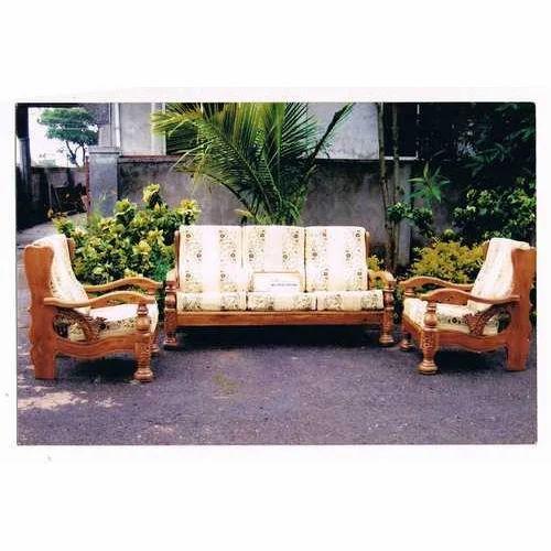 I Model Wooden Sofa Set