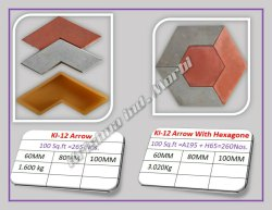 Yellow Combo Pavers Interlocking Tile, For Pavement