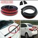 Samuria 4.9 Ft/1.5m By 35mm Universal Black Car Rear Roof Trunk Spoiler Wing Lip Sticker