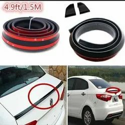 Samuria 4.9 Ft/1.5m By 35mm Universal Black Car Rear Roof Trunk Spoiler Wing Lip Sticker
