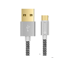 Gray Gizmore Gizwire GIZWM101 Micro USB Cable, Warranty: 1 Year, Cable Size: 1 Meter