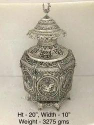 Antique Silver Plated Kalash A Handmade Item