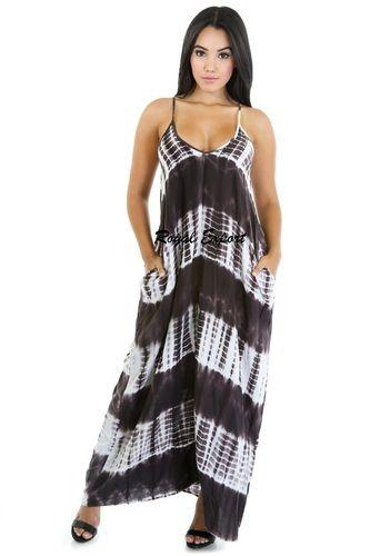 ef95d8553 Dyed Cotton Shibori Print Long Dress