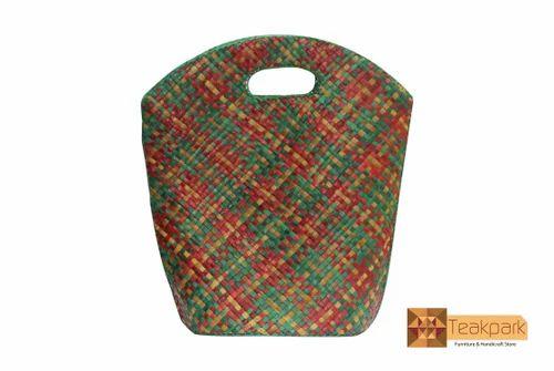 screwpine pallas leaf woven shopper bag design 1 bag size inches
