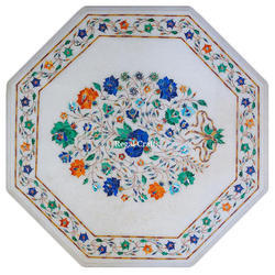 Octagonal Marble Inlay Table Top