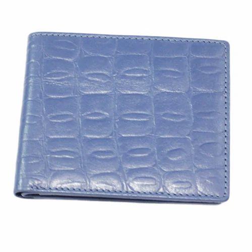 Sky Blue Designer Mens Leather Wallet Size 45 X 35 Inch Rs 300