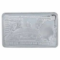 999 Rectangle Silver Note, Weight: 100g, Packaging Type: Box
