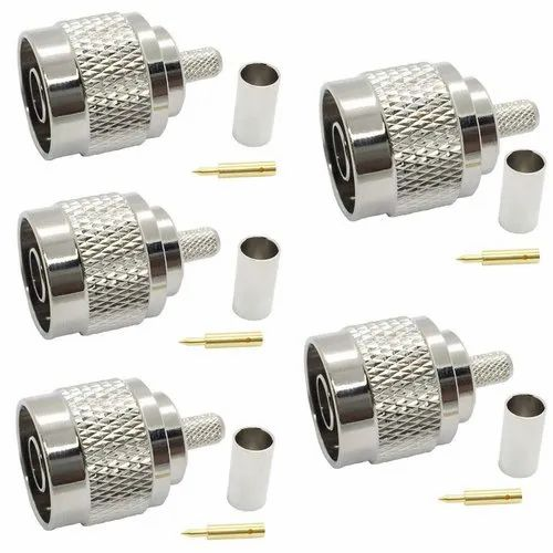 LMR195 Cable Pack of 5 TNC Female Jack Crimp Reverse Polarity Coax RF Connector for RG-58