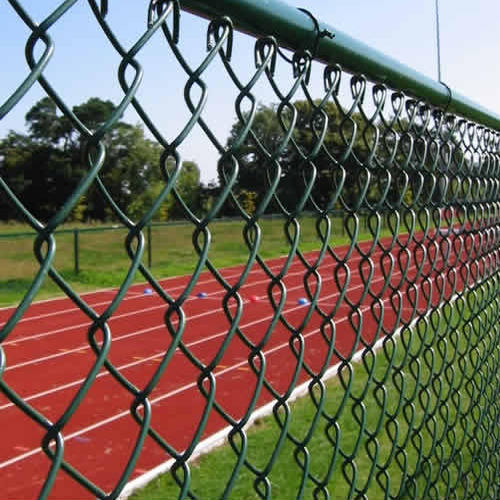 Fine Fence Pvc Coated Gi Plastic Coated Chain Link Fencing