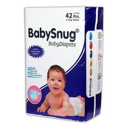 Cotton BabySnug Medium Unisex Disposable Baby Diapers, Age Group: Newly Born-12 Months, Packaging Size: 42 Piece