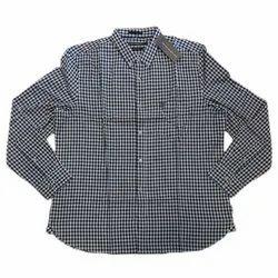 Mens Black Check Readymade Shirts