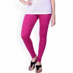 Pink Cotton Dollar Missy Leggings, Size: Medium And Large