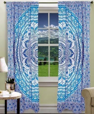 Indian Mandala Curtains Decorative Door Hanging