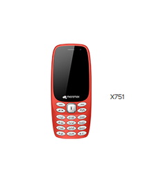 Red Micromax X751 Mobile